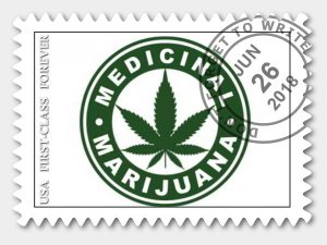 medical cannabis postage stamp